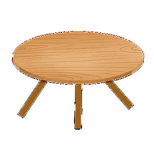 唯美手繪桌子png元素