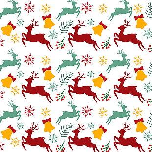 卡通可爱圣诞节底纹