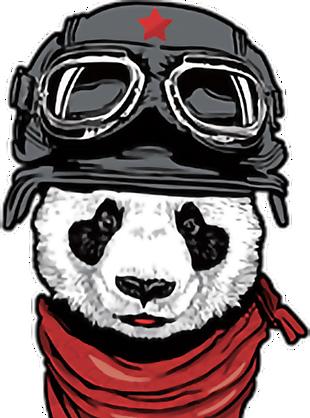 熊貓 飛行員 紅星