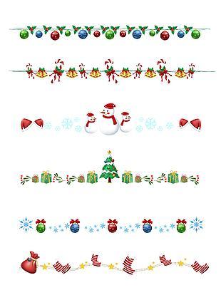 卡通可爱圣诞节分割线