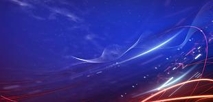 藍色科技商務盛典背景