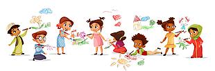 儿童手绘风