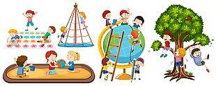 兒童公園游具素材