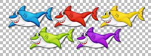 可愛手繪卡通鯊魚