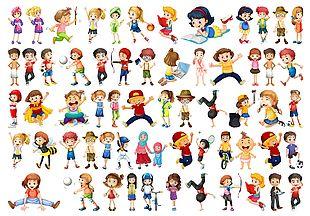 兒童卡通動態人物集合