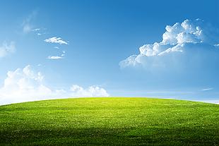 风景 背景 草地 蓝天