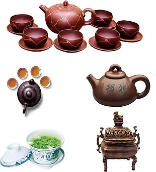 紫茶壺分層素材