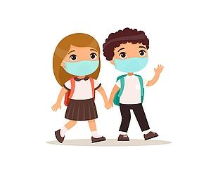 小學生戴口罩