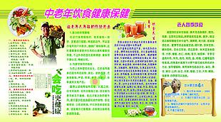 中老年饮食健康保健 展板图片