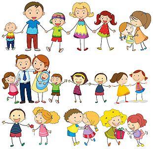 歡樂卡通家庭圖集素材