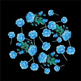 花+花朵+玫瑰花+藍色玫瑰花