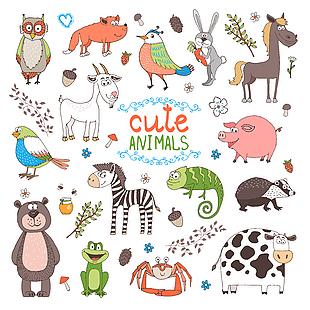 可愛動物卡通圖集