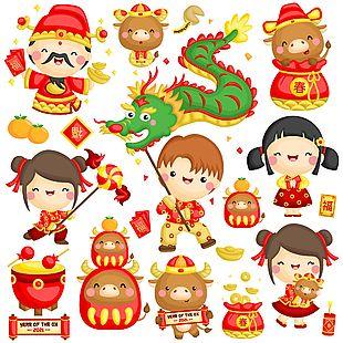中國風春節賀年元素
