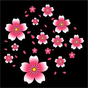 花 花朵 花瓣 矢量图花 花飘落