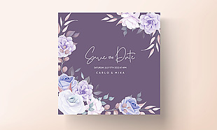 花卉装饰邀请卡