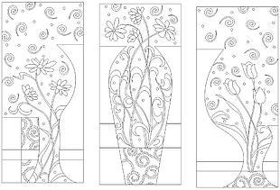 花朵组合主题矢量素材