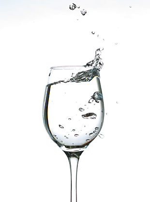 杯子 水 高脚杯