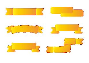 矢量渐变标签装饰元素