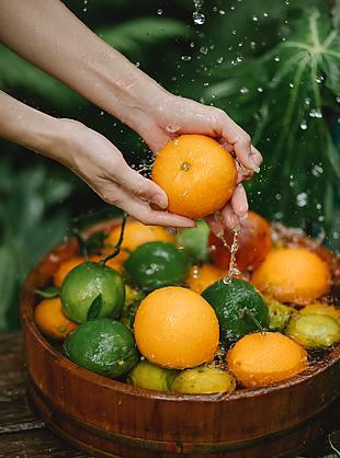 水果 橘子 清洗水果