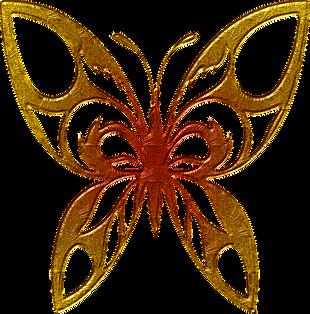 蝴蝶 抽象 黃金