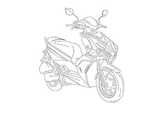 摩托車線條立體