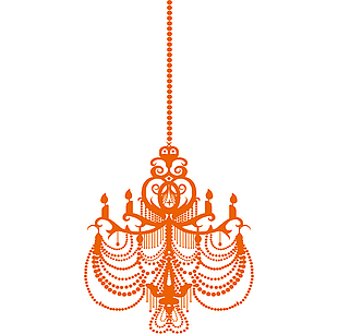 吊燈矢量圖素材