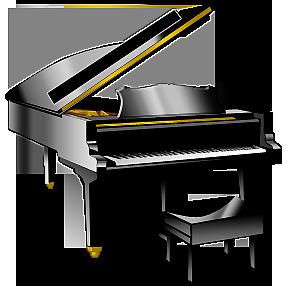 鋼琴透明圖像