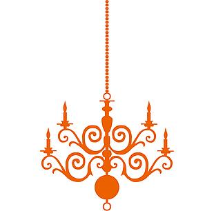吊燈矢量素材