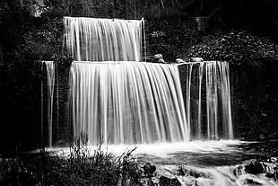 風景 瀑布 流水