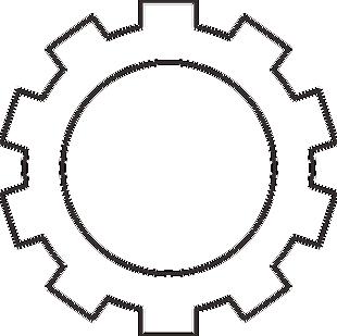 十齒輪圖標