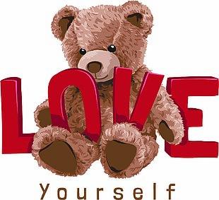 熊图童装印花T恤印花服装印花 LOVE熊