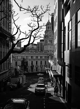 黑白 风景 城市