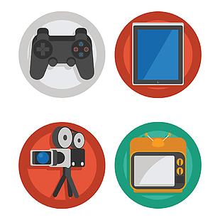 电视平板游戏机图标