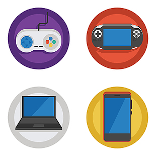 手机电脑游戏机图标