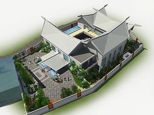 建筑园林景观效果图