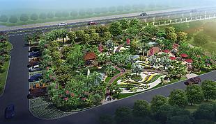 建筑園林景觀效果圖
