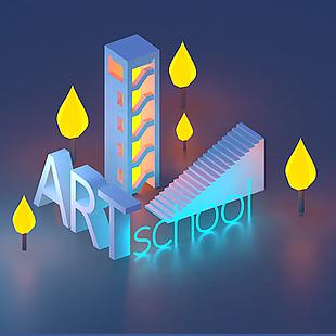 艺术学院原生渲染器渲染
