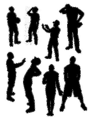 矢量人物剪影