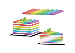 彩虹蛋糕(切件)