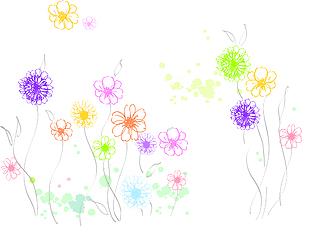彩繪花朵 紋理 裝飾畫