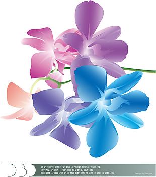 漸變 花朵 裝飾畫