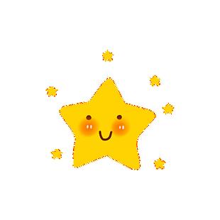 卡通黃色星星
