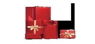 紅色禮品盒子