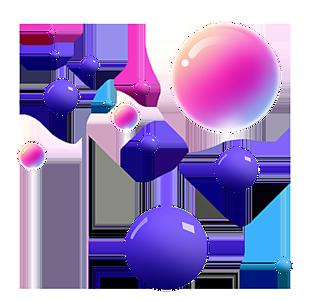 立體彩色圓球