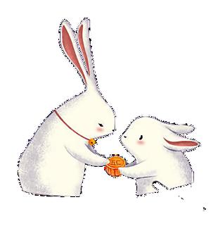 中秋節玉兔吃月餅