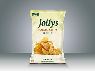 薯片零食塑料包裝樣機