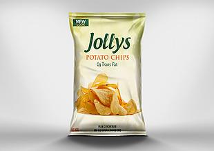 土豆食品零食塑料包裝樣機