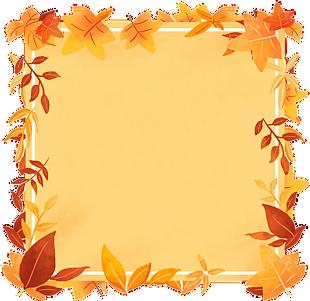 手繪秋天楓葉邊框
