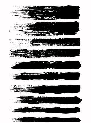 實用黑色筆刷矢量素材