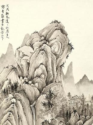 溪山樓閣圖|楊青辭國畫選